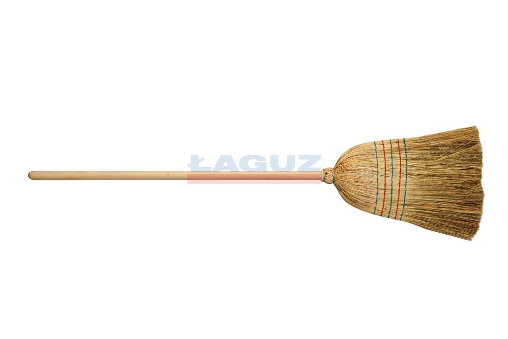 Sorghum broom sewn 5 times